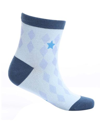 Aimer Kids袜子 爱慕儿童袜子菱形格印花童袜AK2942466
