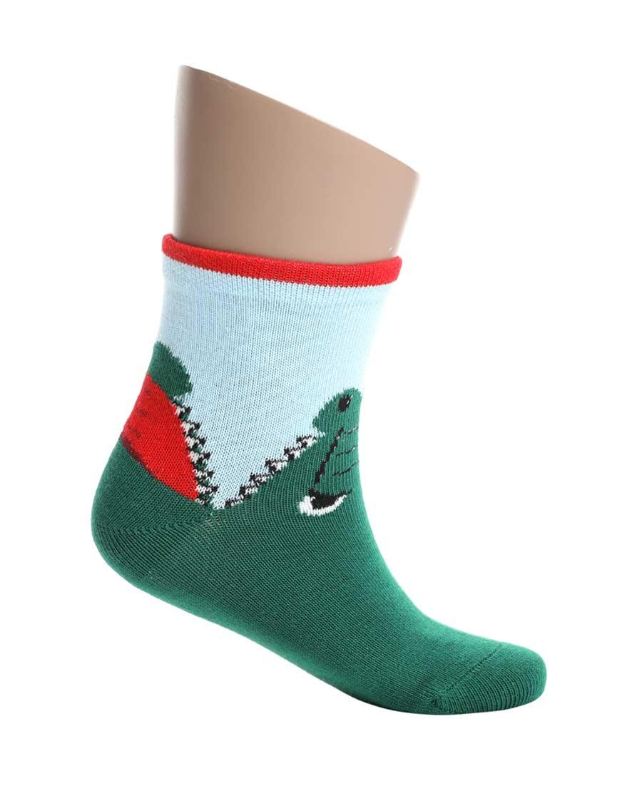 Aimer Kids袜子|爱慕儿童19AW袜子卡通鳄鱼童袜AK39
