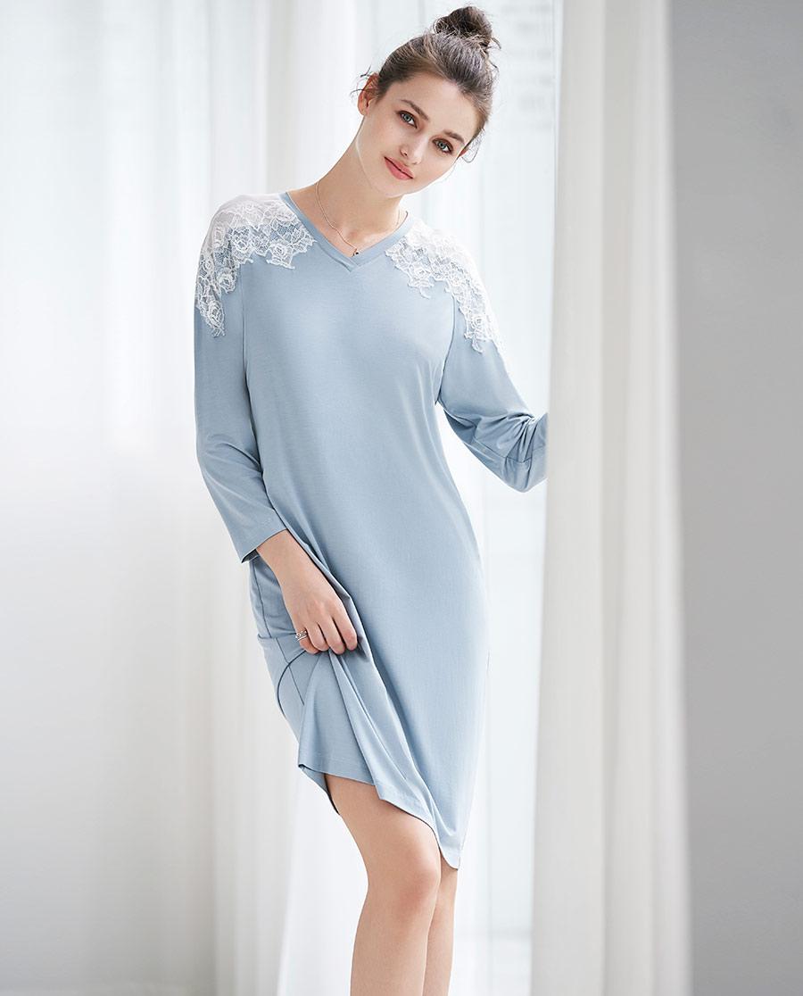 爱慕乐眠长袖睡裙AM443461