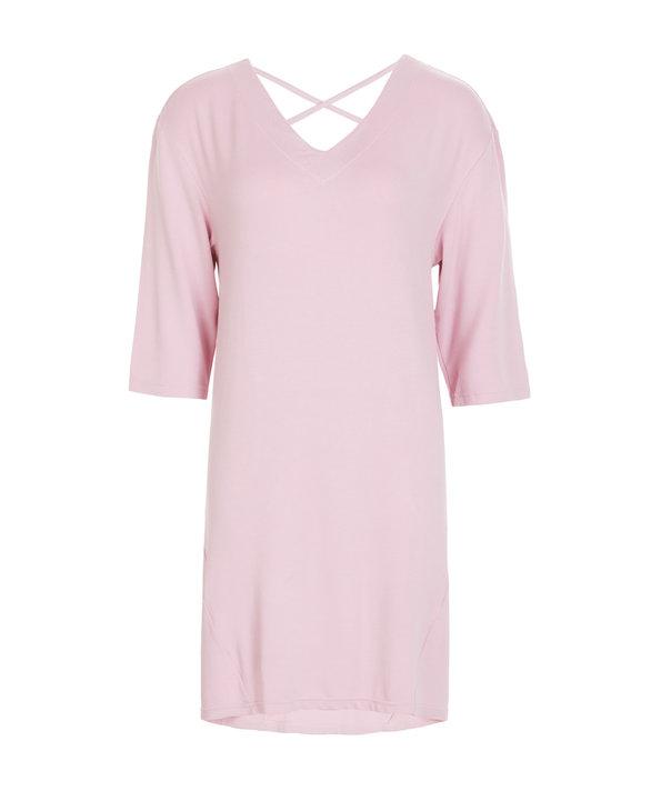 Aimer Home睡衣|爱慕家品薰衣草V领长袖中长睡裙AH440561