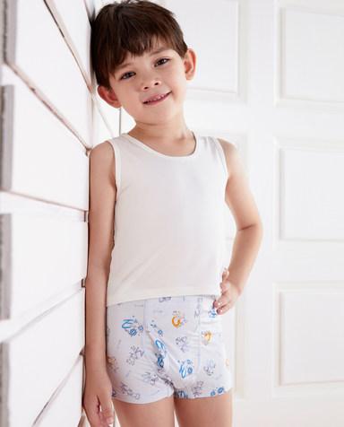 Aimer Kids内裤|爱慕儿童天使小裤MODAL印花字母动物中腰平角内裤AK2231901