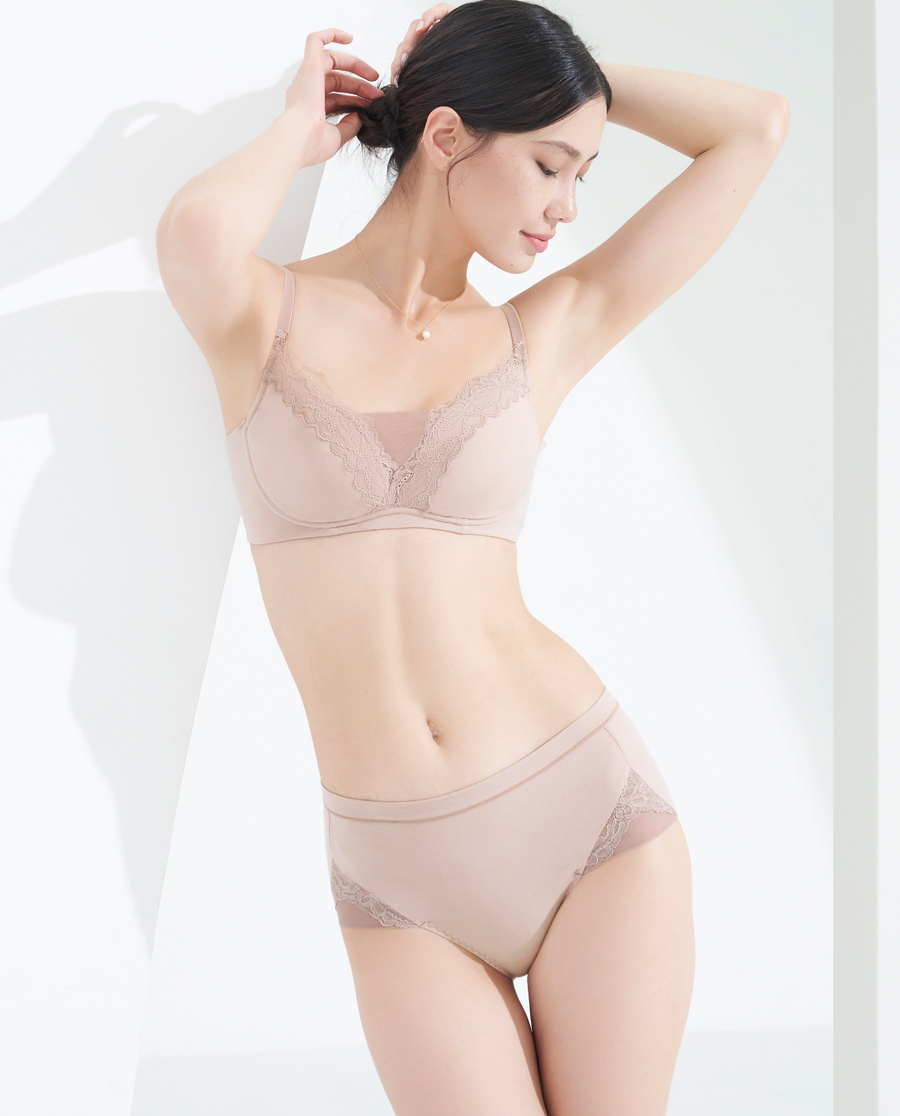 MODELAB內褲|愛慕慕瀾棉享中腰平角內褲AD23E71