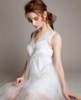 LA CLOVER挚爱WHITE系列宽肩短款睡裙+小吊衣LC43HG1