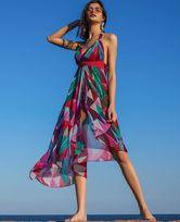 LA CLOVER缤纷夏日系列沙滩长裙(明星同款)LC60HK1