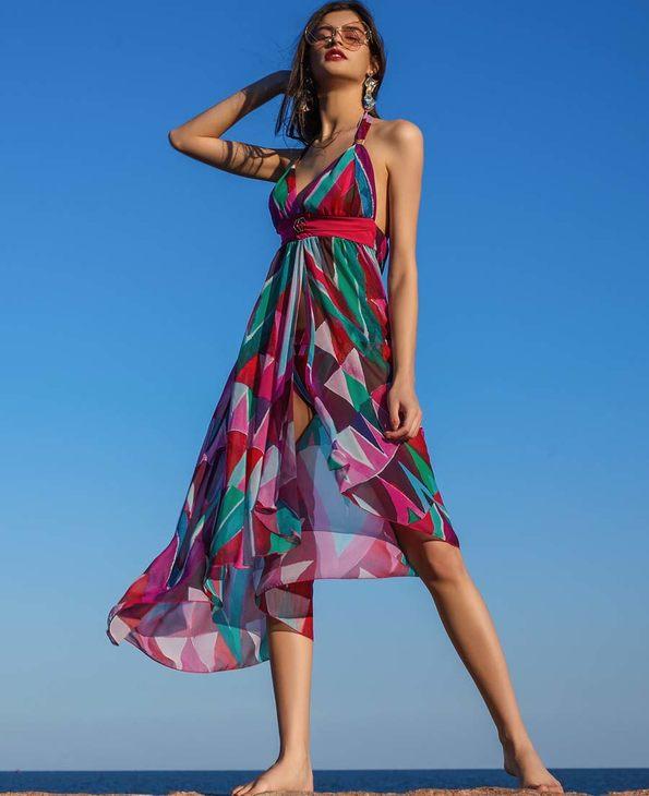 La Clover泳衣 LA CLOVER缤纷夏日系列沙滩长裙(明星同款)LC60HK1