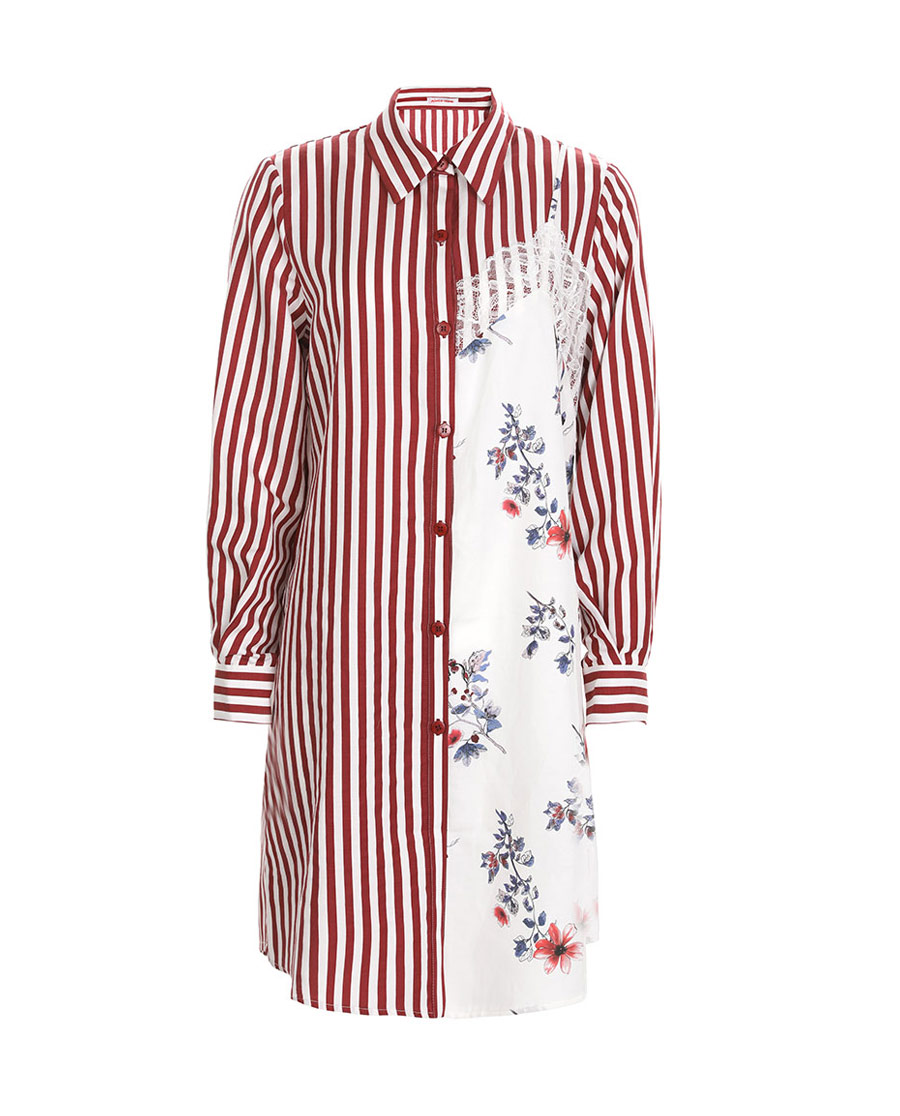 Aimer Home睡衣|爱慕家居彤漪蔷薇长袖衬衫裙AH440621