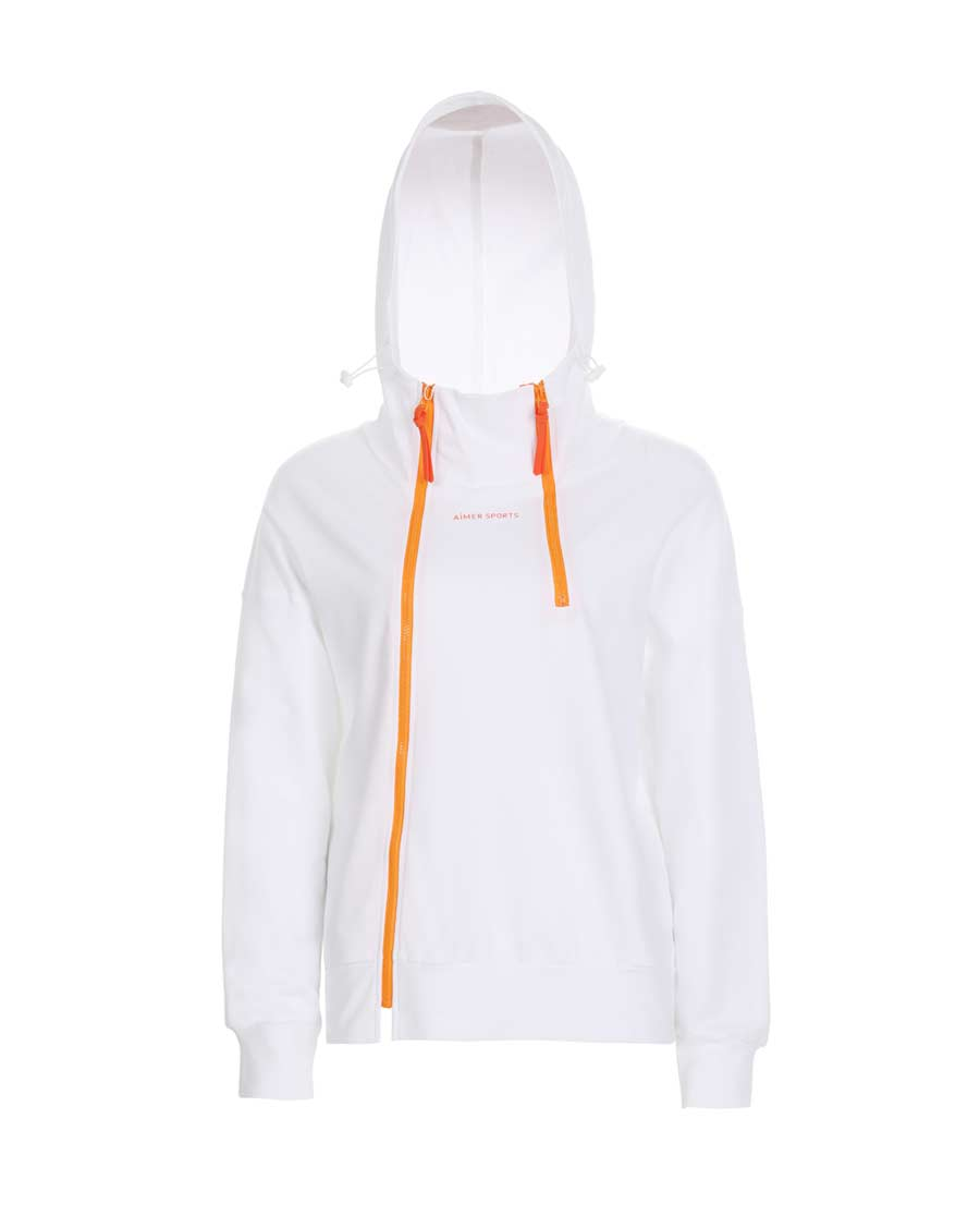 Aimer Sports运动装|爱慕运动美力领跑带帽拉链外套AS144H32