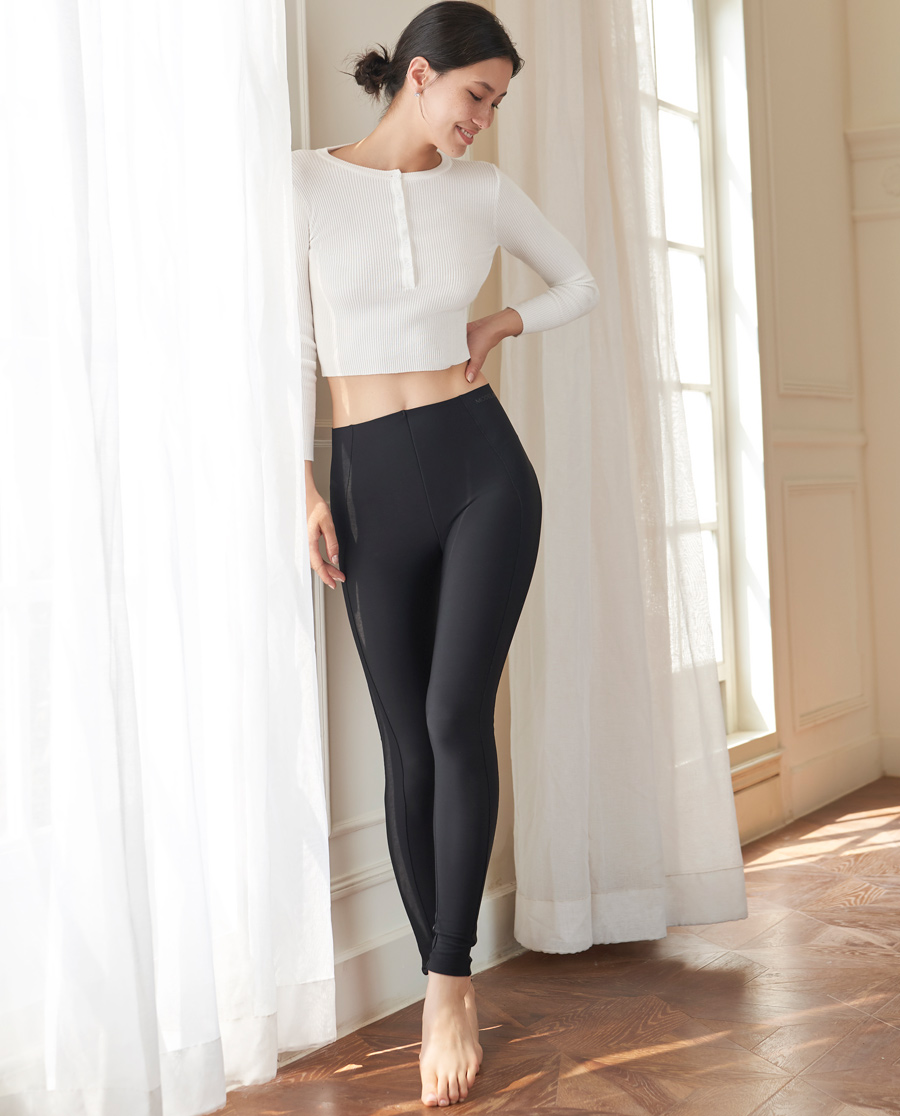 MODELAB美體|愛慕慕瀾小黑褲中型起絨外穿長褲AD33F