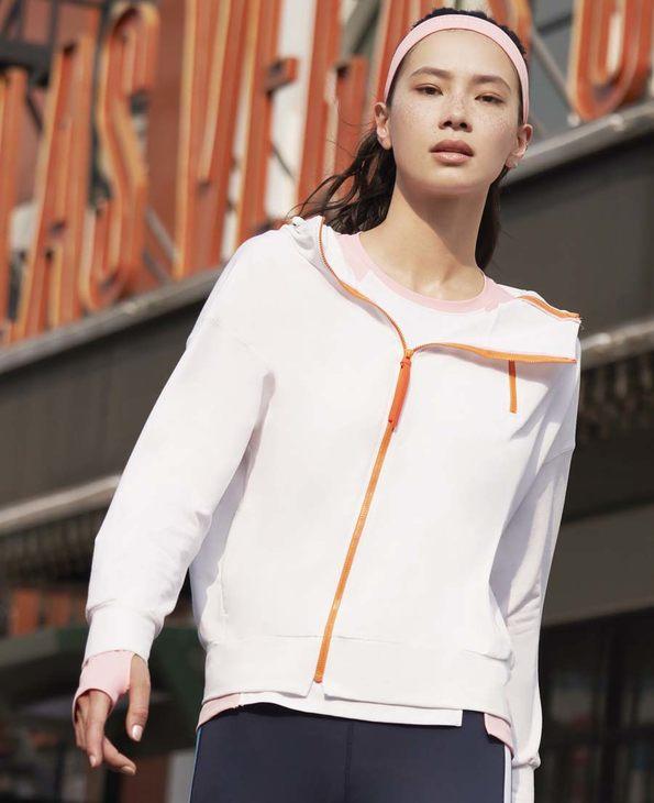 Aimer Sports運動裝|愛慕運動美力領跑帶帽拉鏈外套AS144H32
