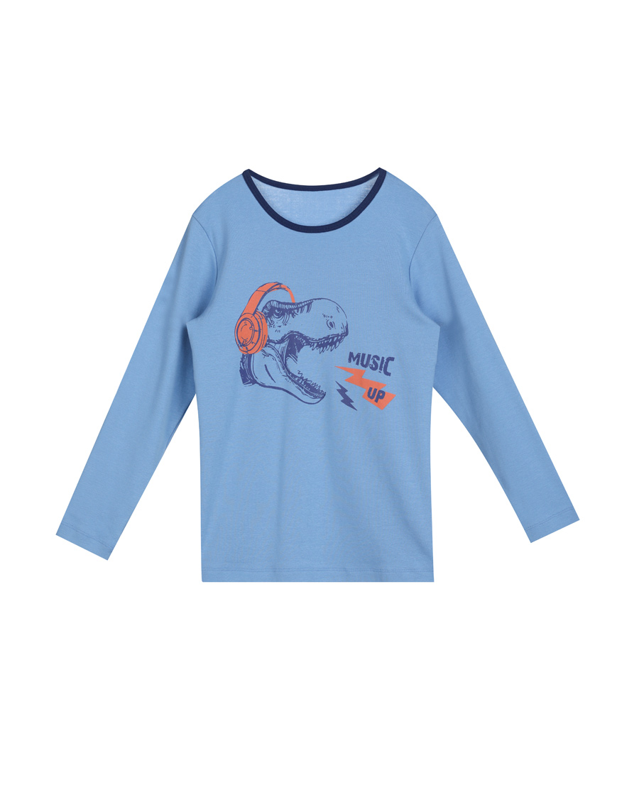 Aimer Kids保暖|爱慕儿童摇滚恐龙长袖上衣AK2720621