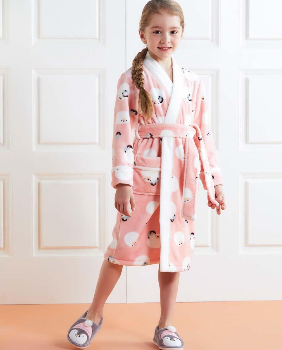 Aimer Kids睡衣|爱慕儿童冰雪环游记家居袍AK144222