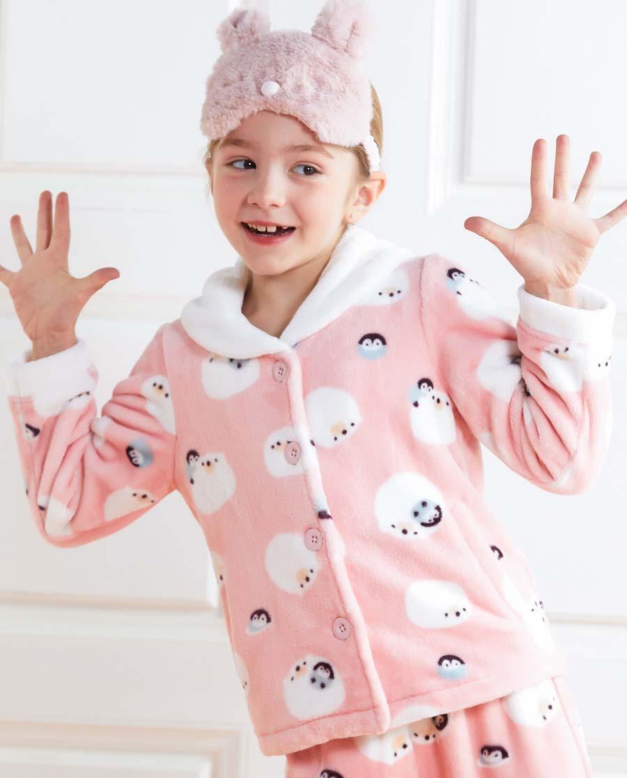 Aimer Kids睡衣|爱慕儿童冰雪环游记开衫长袖家居上衣AK1