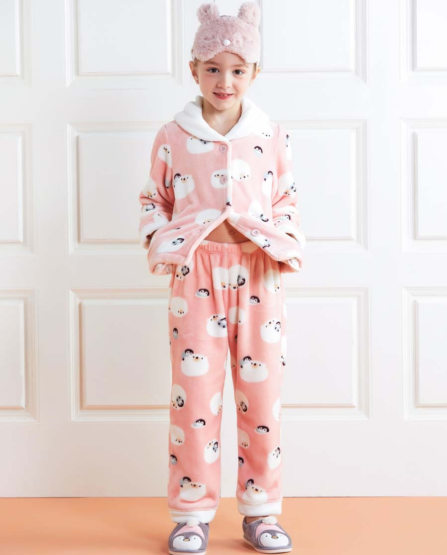 Aimer Kids睡衣|亚洲城儿童冰雪环游记家居长裤AK14222