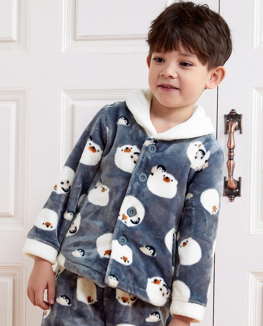 Aimer Kids睡衣|亚洲城儿童冰雪环游记长袖家居开衫AK241