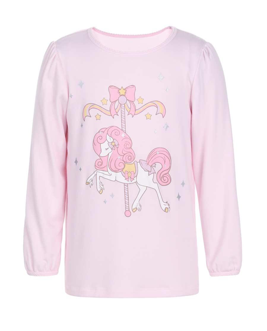 Aimer Kids睡衣|亚洲城儿童梦幻木马套头长袖睡衣AK1411
