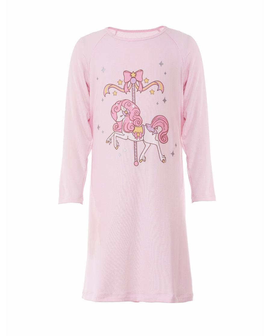 Aimer Kids睡衣|亚洲城儿童梦幻木马长袖睡裙AK144199