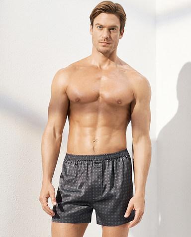 Aimer Men内裤|爱慕先生真丝四角裤包腰四角裤NS24C351