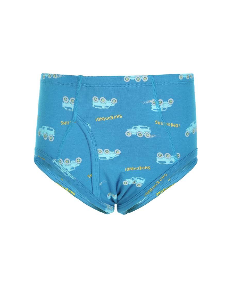 Aimer Kids内裤|亚洲城儿童天使小裤棉氨纶印花雪地汽车中腰三