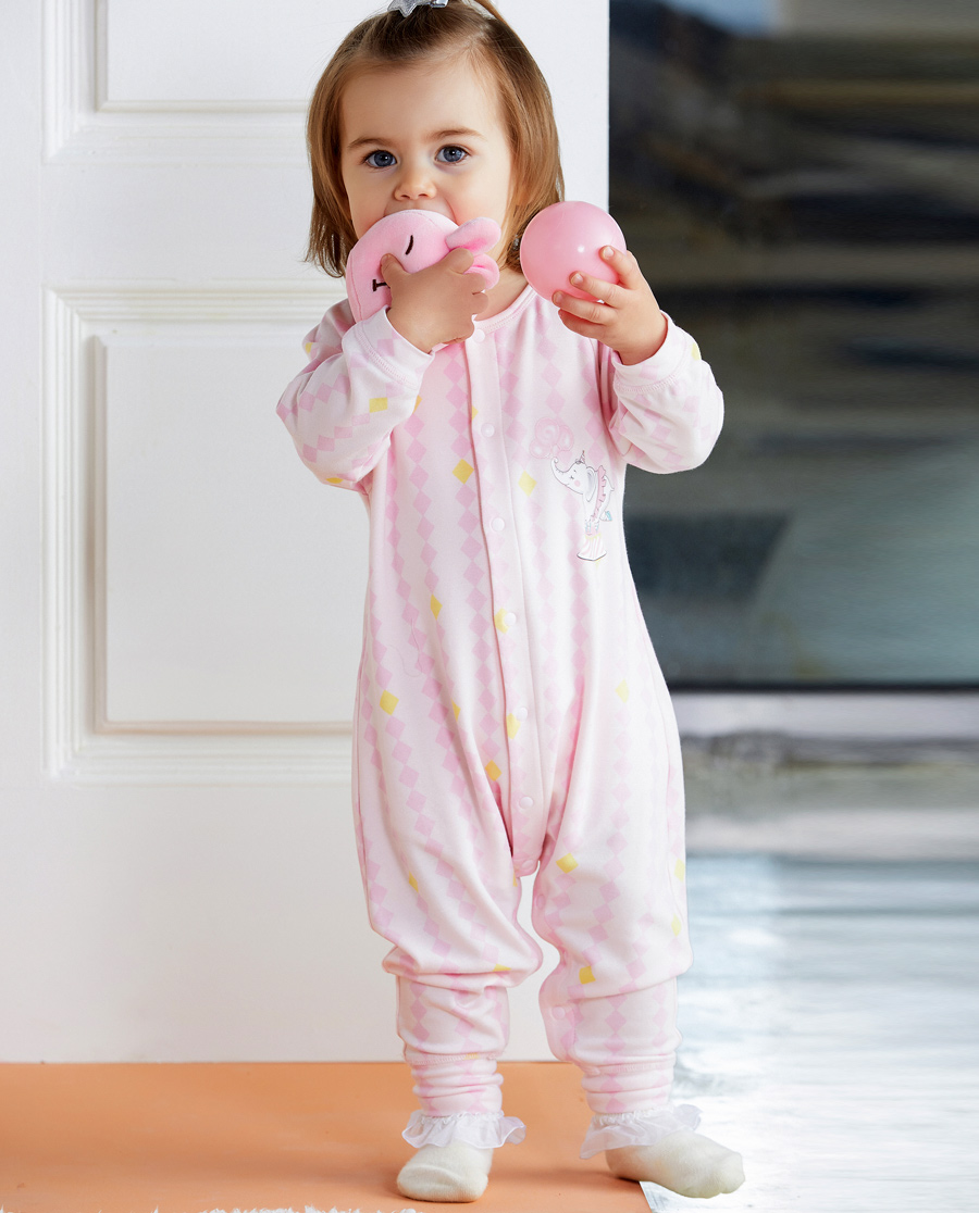 Aimer Baby睡衣|爱慕婴儿小象乐园长款分腿睡袋AB1451731