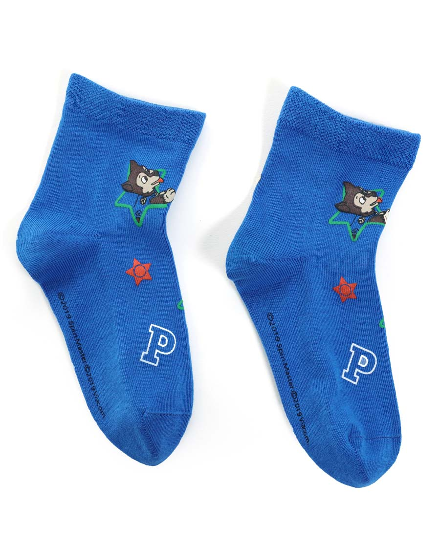 Aimer Kids襪子|愛慕兒童汪汪隊襪子藍色滿幅印花男童襪AK