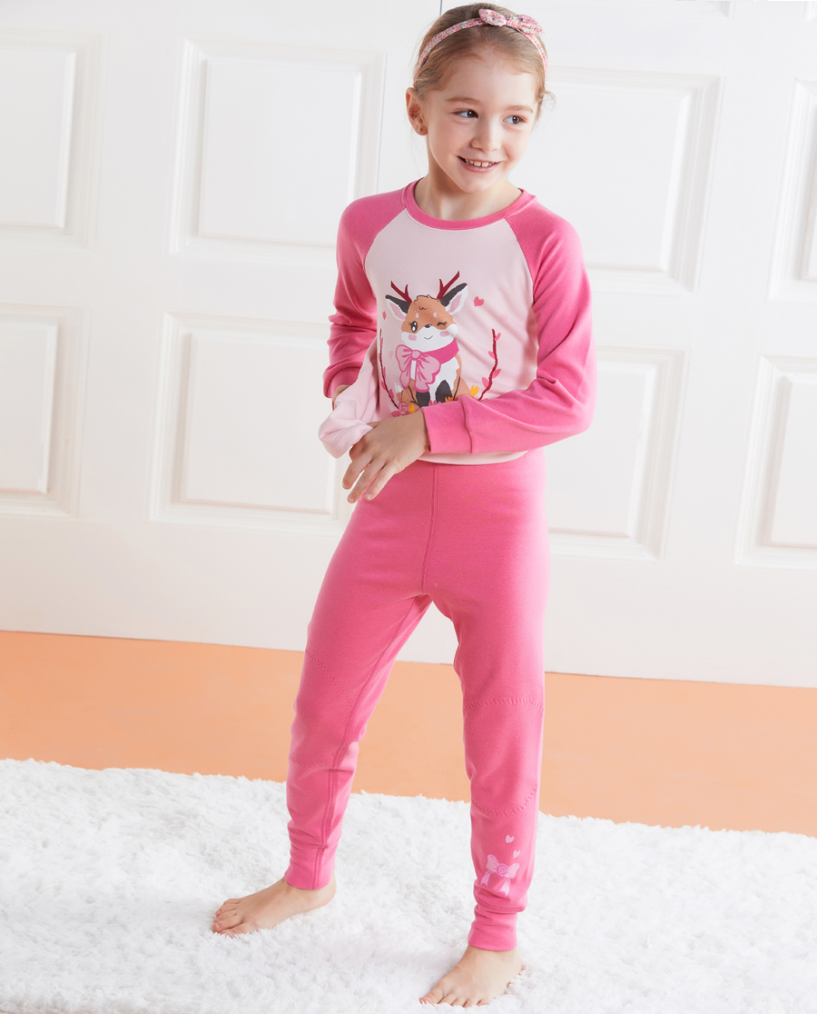 Aimer Kids保暖|爱慕儿童暖阳新意单层长裤AK173176