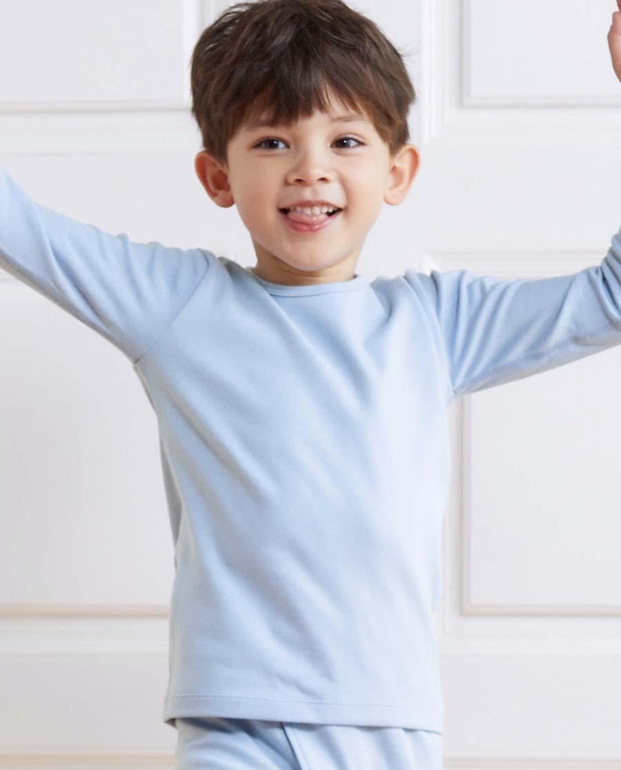 Aimer Kids保暖 亚洲城儿童暖阳男童双层长袖上衣AK2722