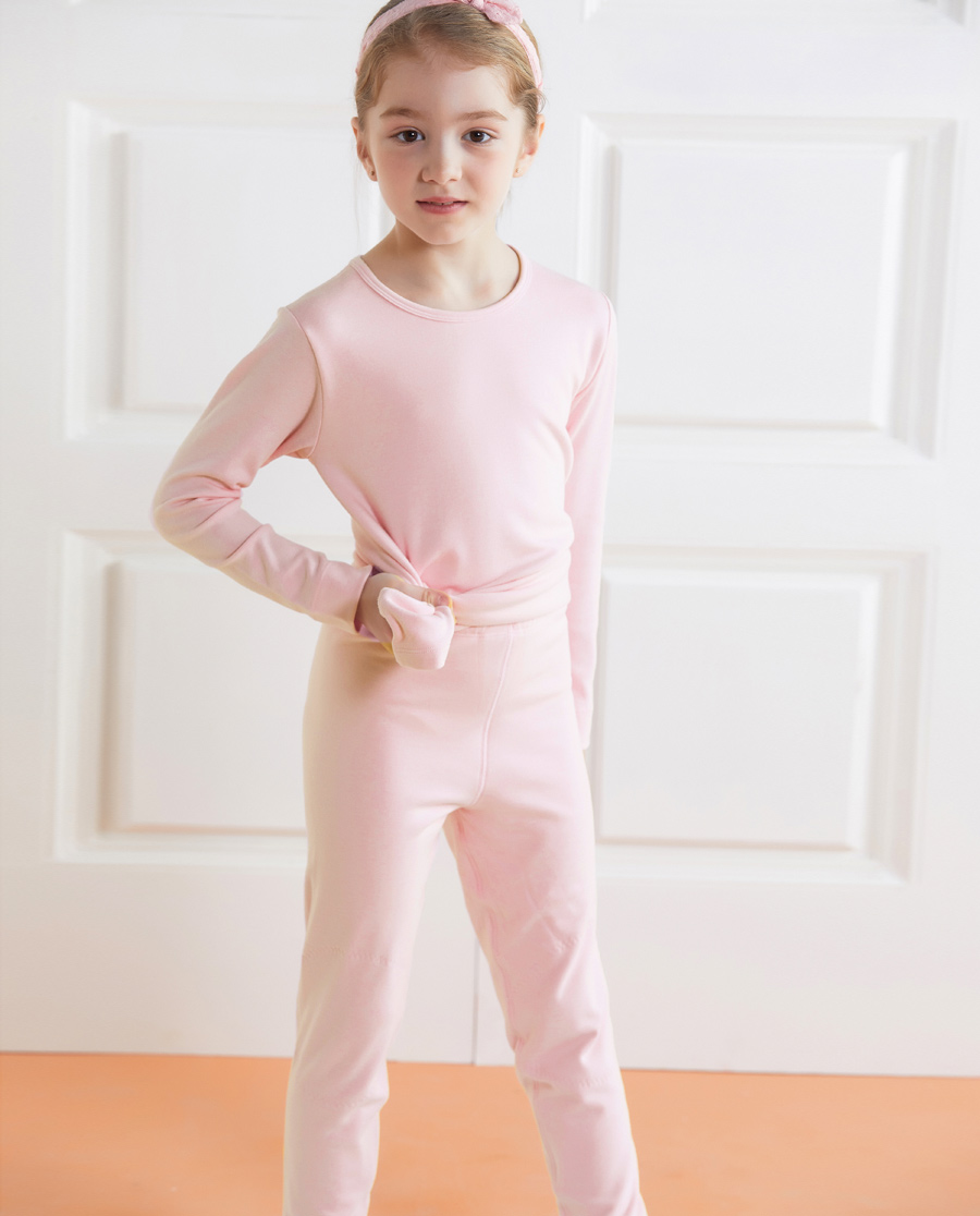 Aimer Kids保暖 亚洲城儿童暖阳女童双层长裤AK173221