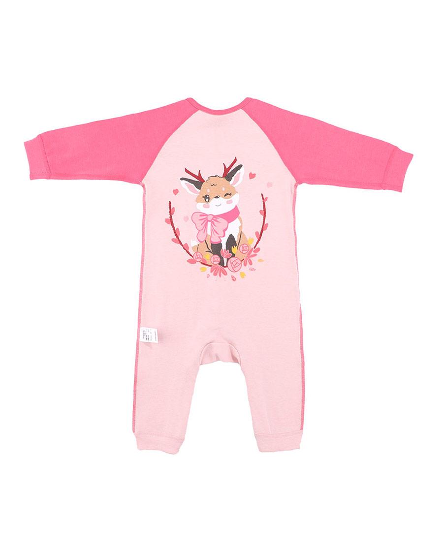 Aimer Baby保暖 亚洲城婴幼暖阳新意女婴长袖连体爬服AB17