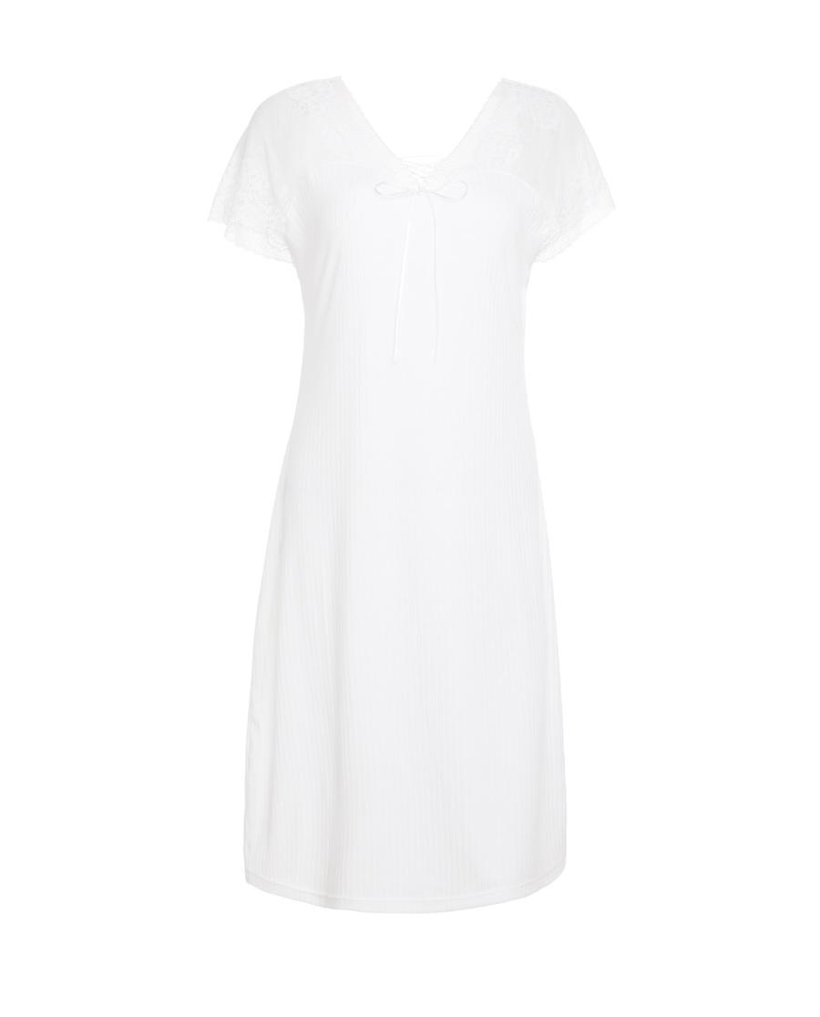 爱慕素末幻年深V系带蕾丝睡裙AM443551