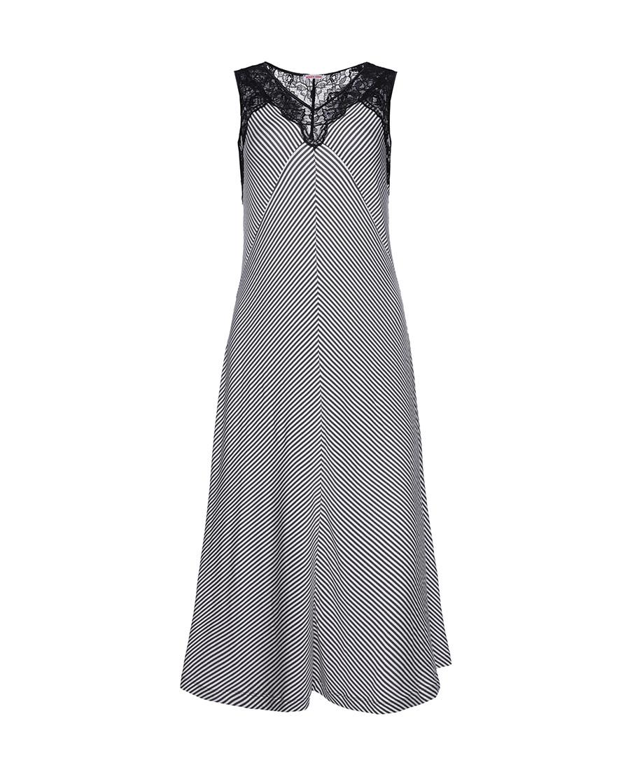 Aimer Home睡衣|爱慕家居律动条纹无袖睡裙AH440601