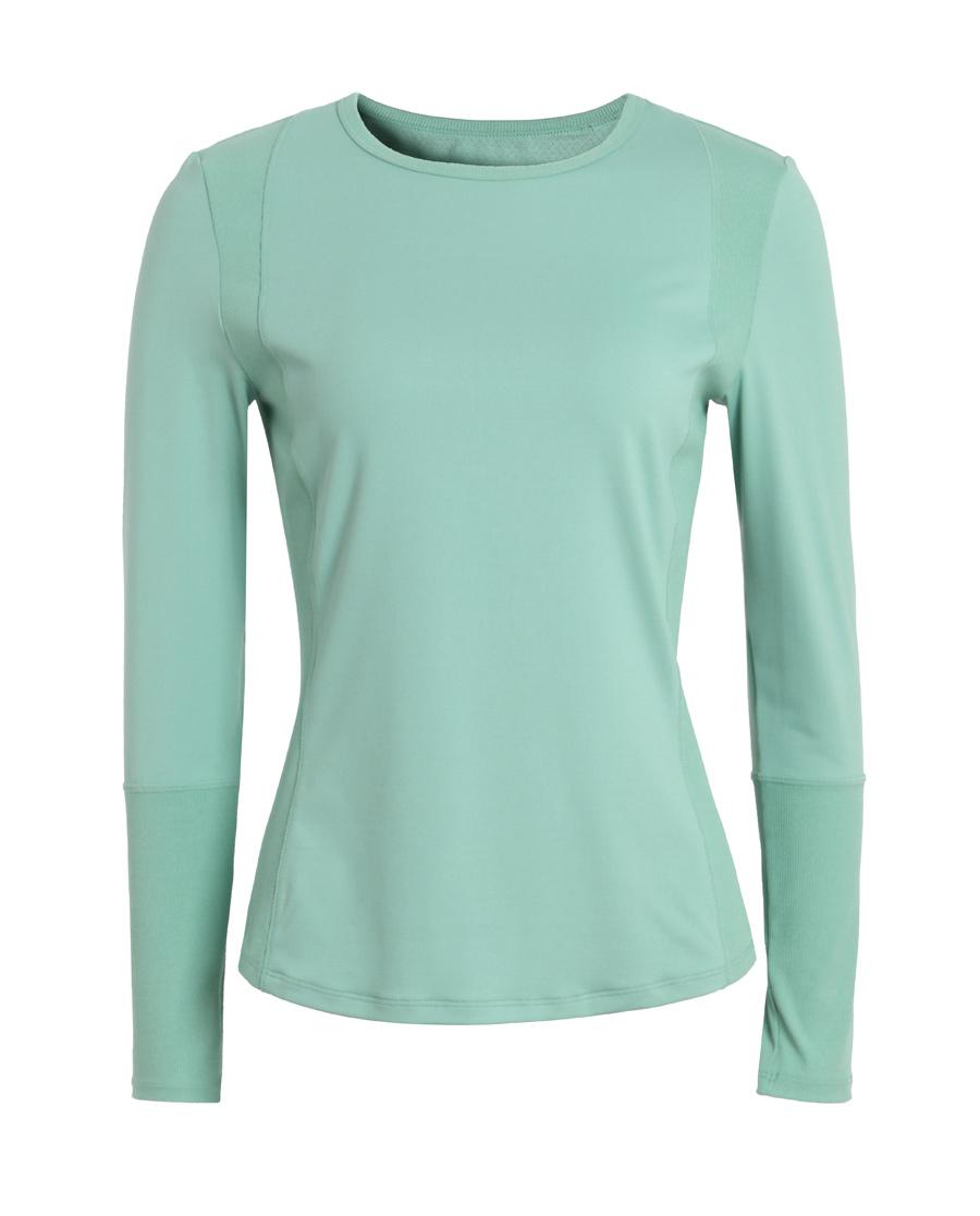 Aimer Sports运动装|爱慕运动格调瑜伽拼接长袖T恤AS144H41
