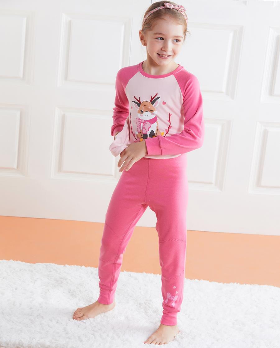 Aimer Kids保暖 亚洲城儿童暖阳新意双层长裤AK173176