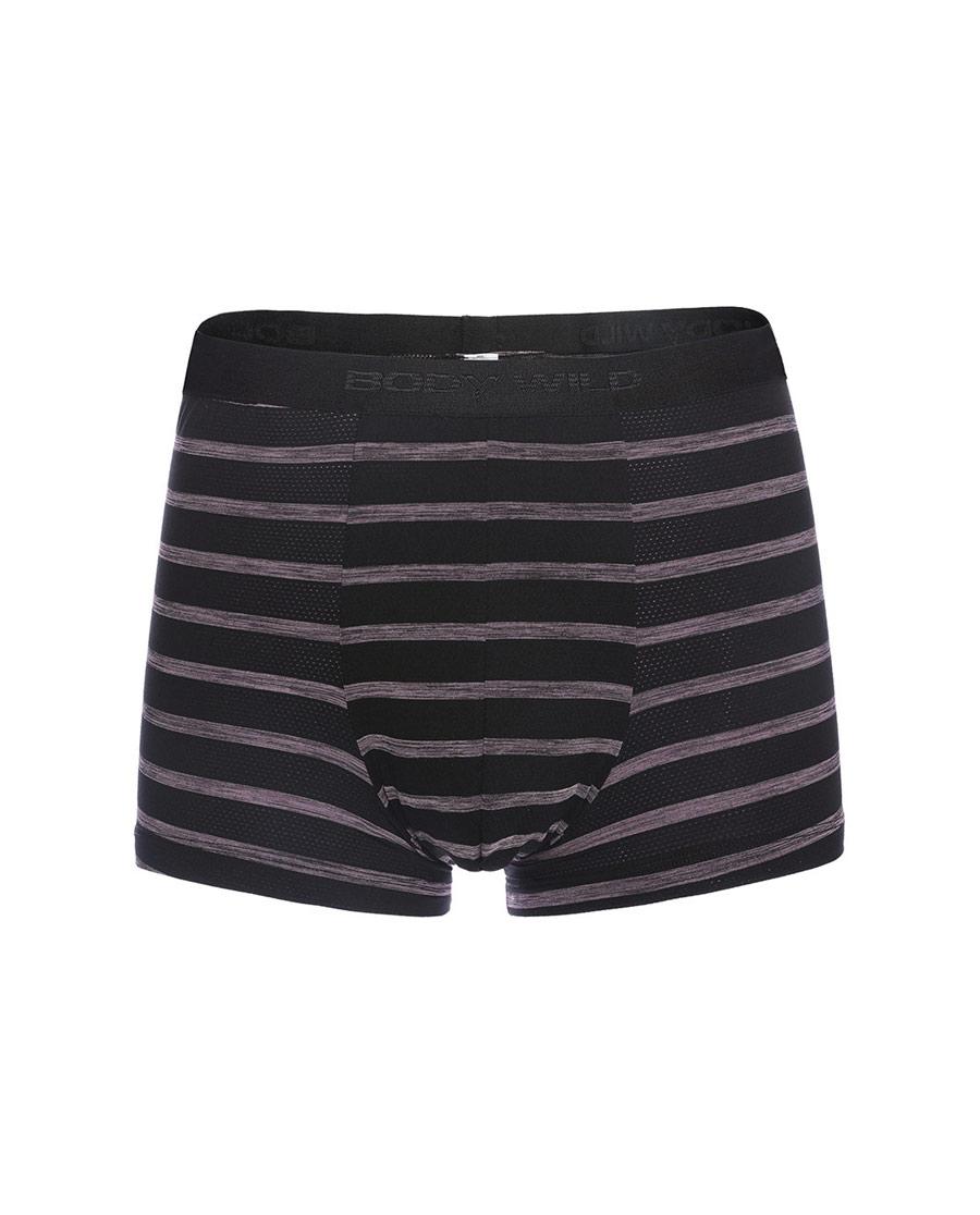 Body Wild内裤|宝迪威德花纱条纹中腰平角内裤ZBN23NV1