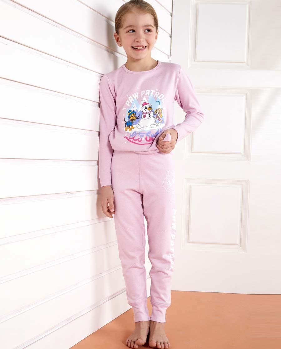 Aimer Kids保暖|亚洲城儿童汪汪队暖阳新意女童双层长裤AK1