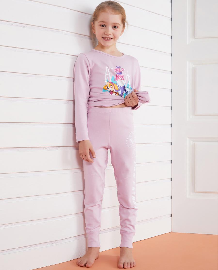 Aimer Kids保暖|亚洲城儿童汪汪队暖阳新意女童单层长裤AK1