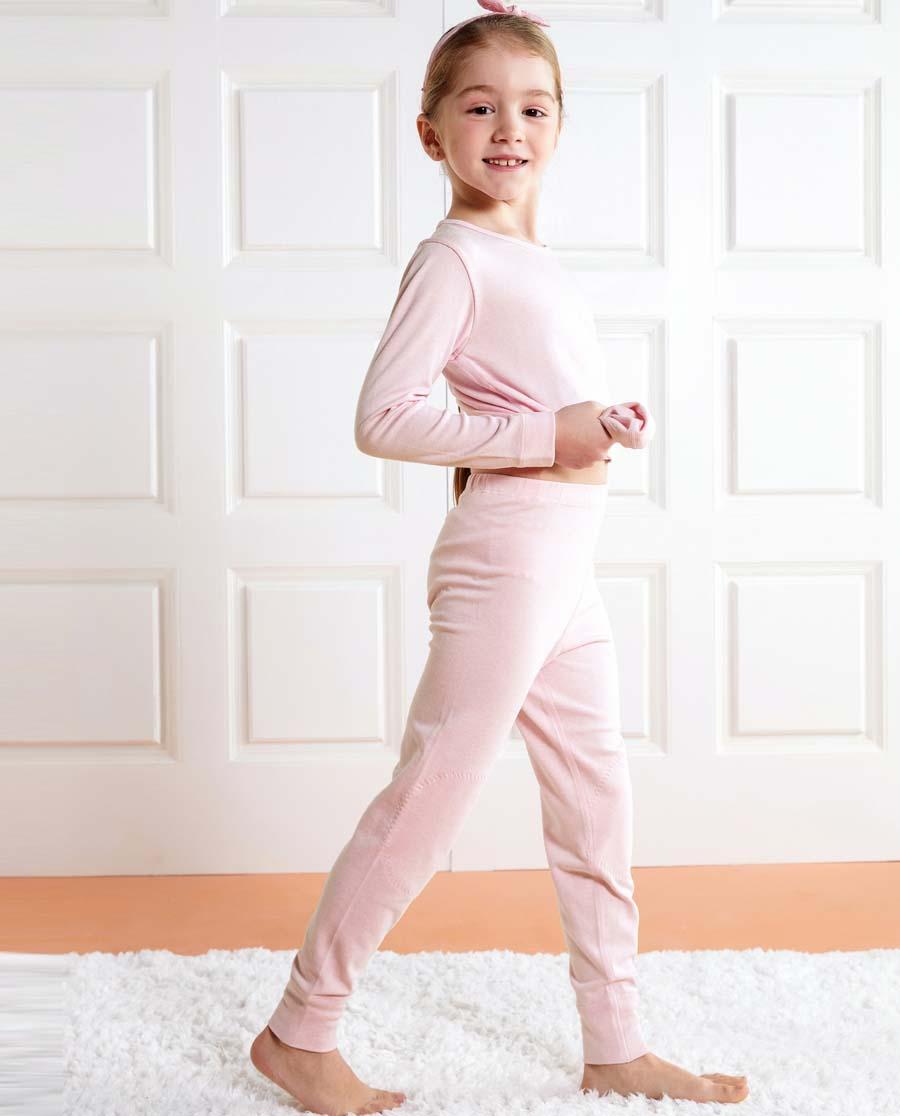 Aimer Kids保暖 亚洲城儿童水柔棉长裤AK1732161