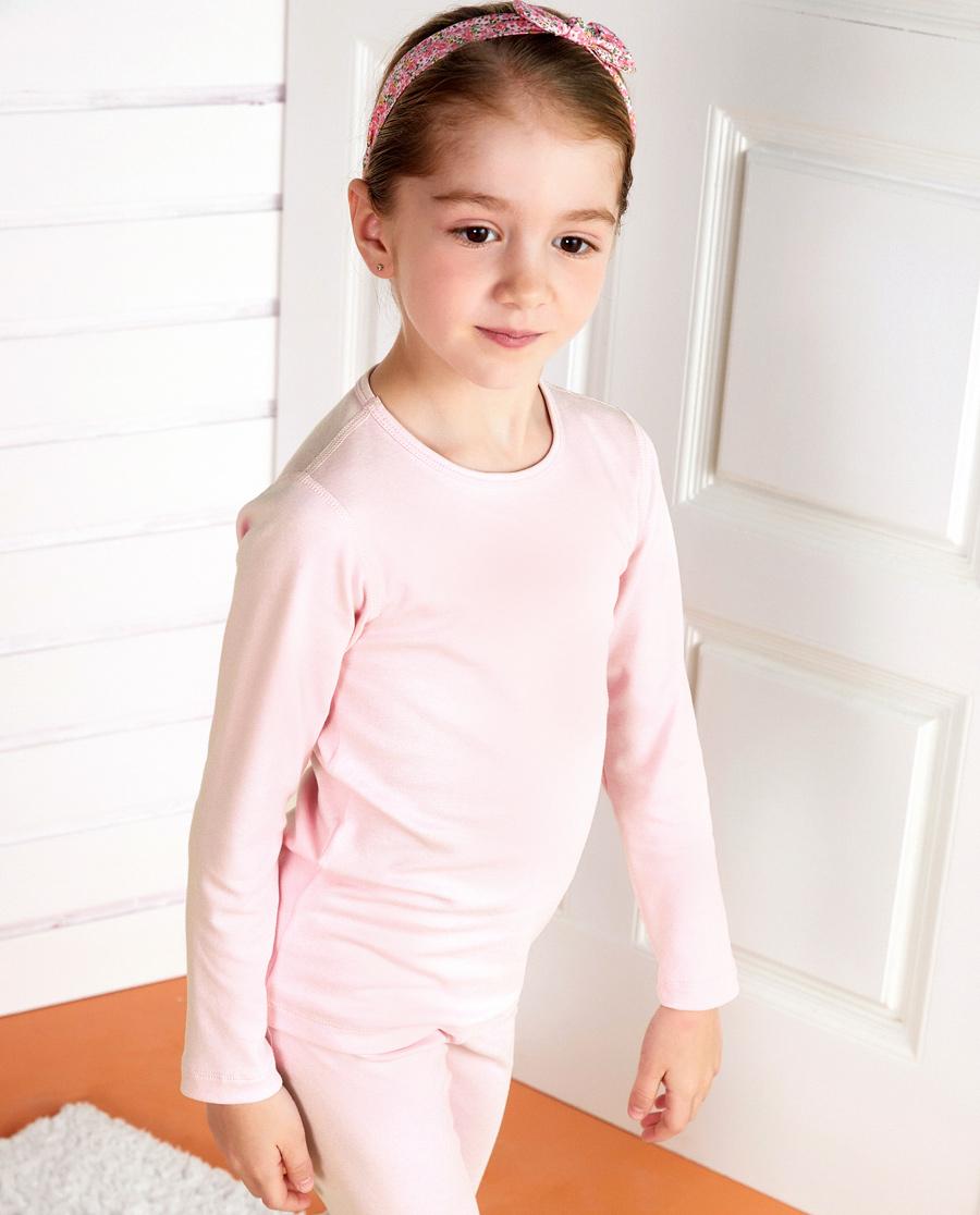 Aimer Kids保暖 亚洲城儿童水柔棉长袖上衣AK1722161