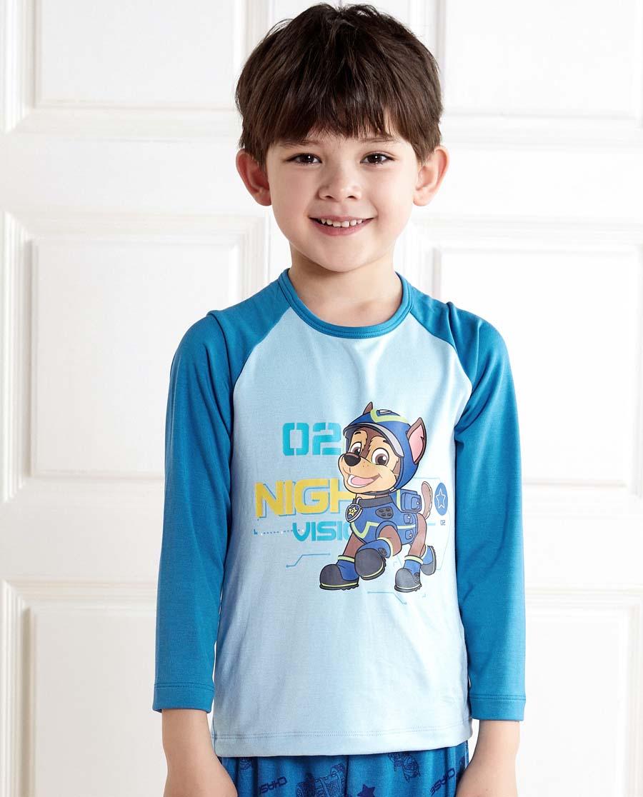 Aimer Kids睡衣|亚洲城儿童汪汪队夜行特工男童套头长袖睡衣A