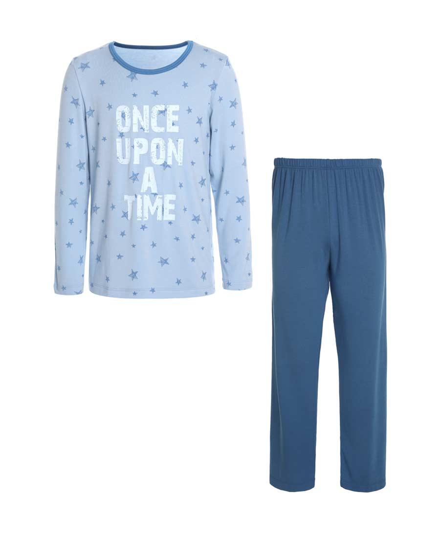 Aimer Kids睡衣|亚洲城儿童2件装 柔软星男童长袖家居套装A