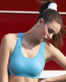 爱慕运动美力领跑中强度背心式薄杯文胸AS116H33