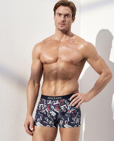 Aimer Men内裤|爱慕先生时尚happy裤装腰平角内裤NS23C311