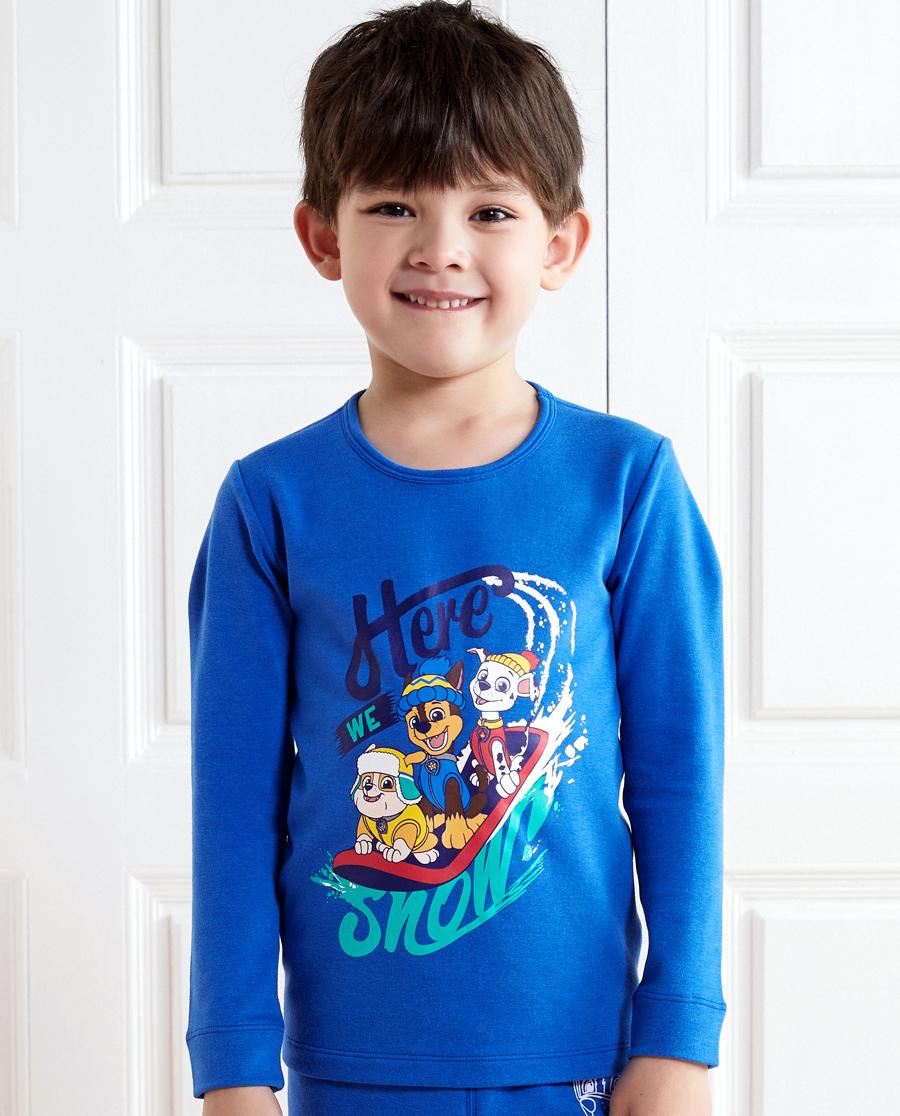 Aimer Kids保暖 亚洲城儿童汪汪队暖阳新意双层圆领长袖上衣A