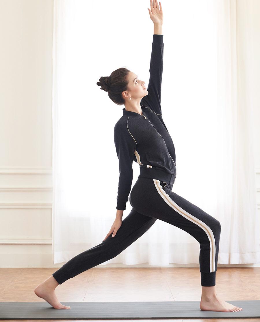 Aimer Sports运动装|巴黎夫人运动舒暖宽松休闲裤AS153H61