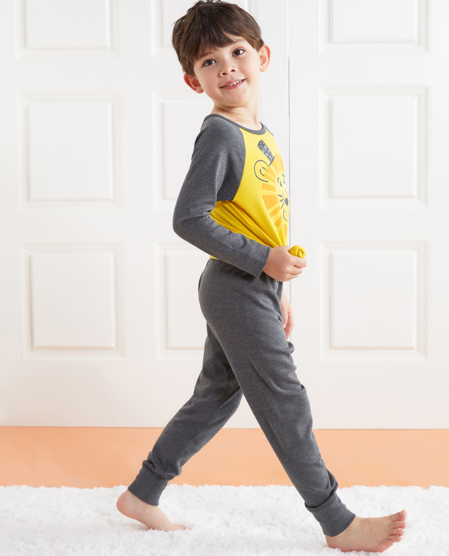 Aimer Kids保暖|爱慕儿童暖阳新意单层长裤AK273176