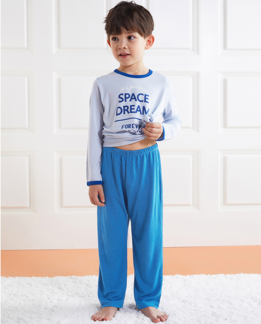 Aimer Kids睡衣 爱慕儿童太空梦想男童长睡裤AK2422501
