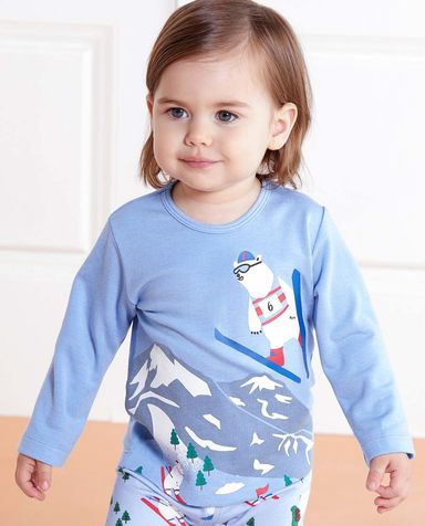 Aimer Baby保暖|爱慕婴幼滑雪熊长袖上衣AB2721741