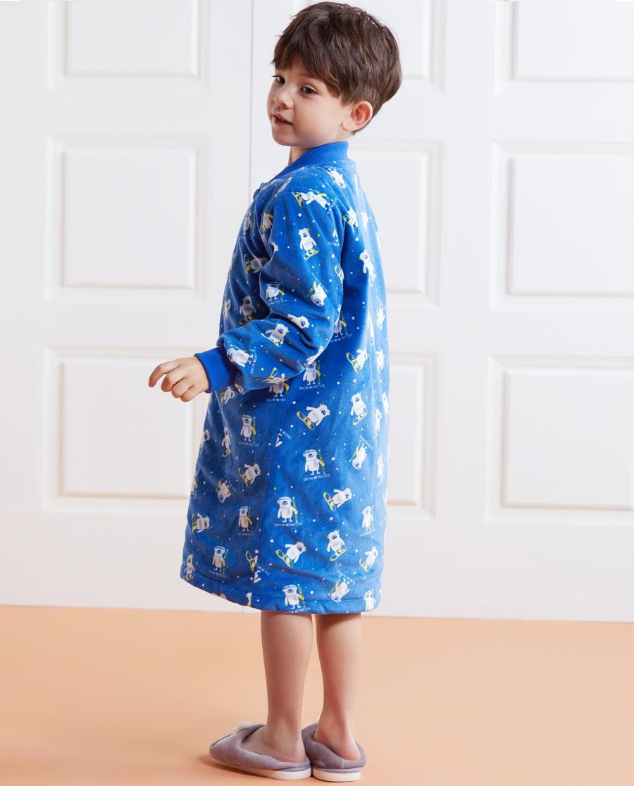 Aimer Kids睡衣 爱慕儿童可爱雪怪家居袍AK2442451