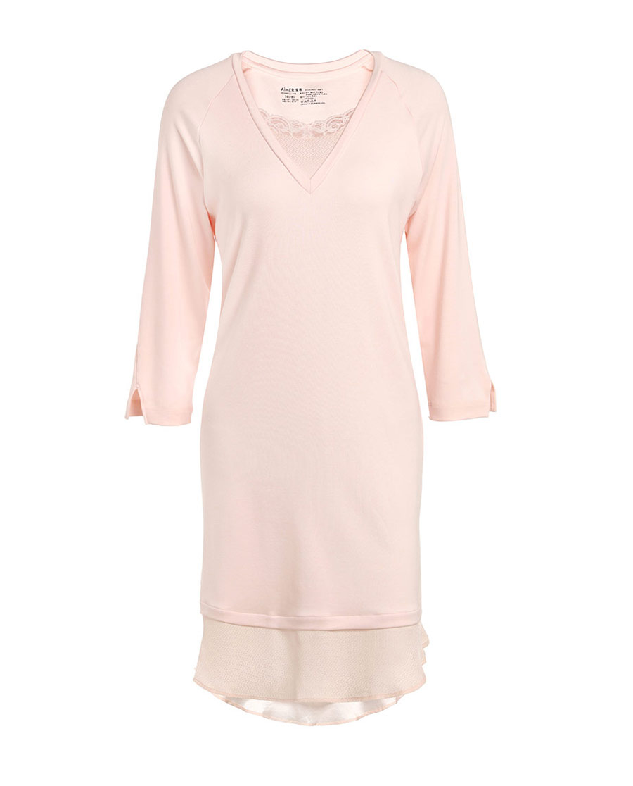 Aimer Home睡衣 爱慕牛奶好眠II长袖睡裙AH440532