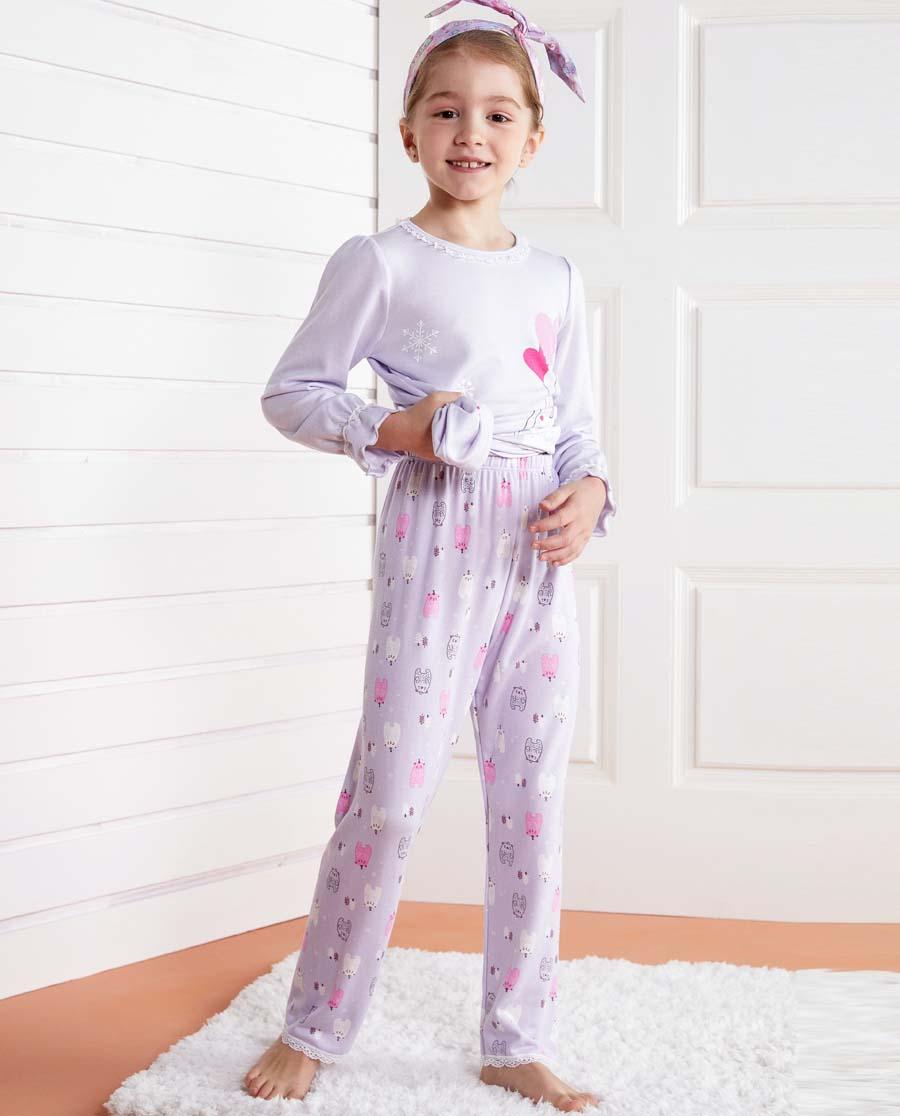 Aimer Kids睡衣|爱慕儿童雪花熊家居长睡裤AK142175