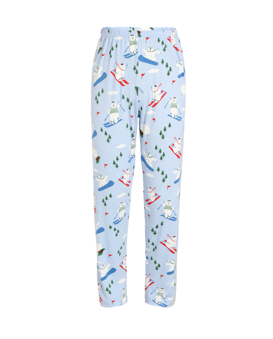 Aimer Kids睡衣 爱慕儿童滑雪熊长睡裤AK2421741